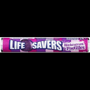 Lifesaver Blackcurrant Pastilles Rolls 34g x 24