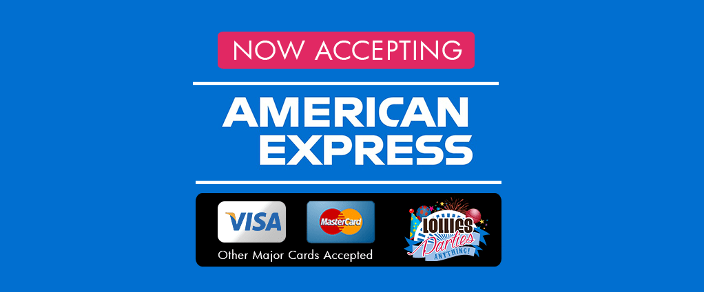 Who Accepts Amex >> Now Accepting Amex For Payments Lollies Parties Anything