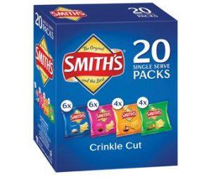 Smiths 20pk Crinkle Cut Variety x 6