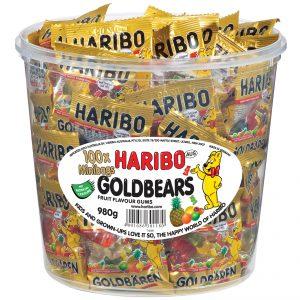 Haribo Gold Bears Mini Packs 9.8g x 100
