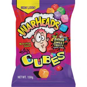 Candy, Lollies, Sweets Warheads Cubes