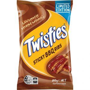 Twisties Sticky BBQ Ribs 80g