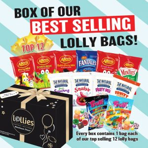 Our Best Selling Lolly Bags Box x 12 packets