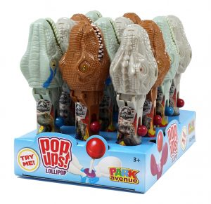 Jurassic World Dinosaur Pop Ups Lollipops 10g x 12