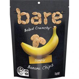 Bare Simply Banana Chips 37g