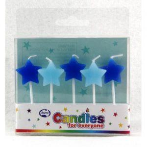 Blue Star Candles 5pk