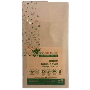 Eco Occasions Rectangular Paper Table Cover 1.25 x 2.5M Kraft