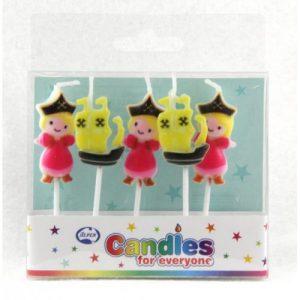 Pirate Princess Candles 5pk
