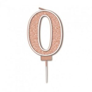 Sparkling Fizz Rose Gold 7.5cm Birthday Candle #0