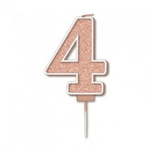 Sparkling Fizz Rose Gold 7.5cm Birthday Candle #4
