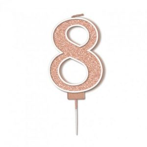 Sparkling Fizz Rose Gold 7.5cm Birthday Candle #8