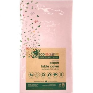 Eco Occasions Rectangular Paper Table Cover 1.25 x 2.5M Light Pink