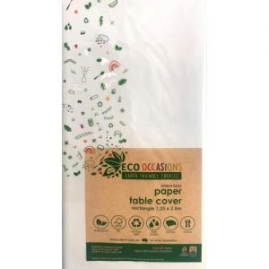 Eco Occasions Rectangular Paper Table Cover 1.25 x 2.5M White