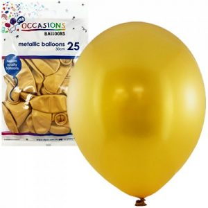 Alpen Balloons Metallic Gold 25pk 30cm