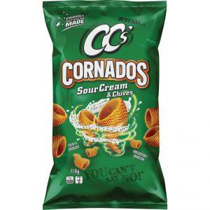 CCS Cornados Sour Cream/Chives 110G