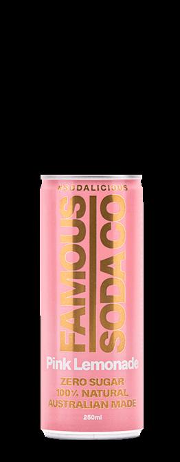 Famous Soda Pink Lemonade 250ml