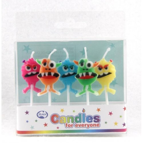 Monster Party Candles 5pk