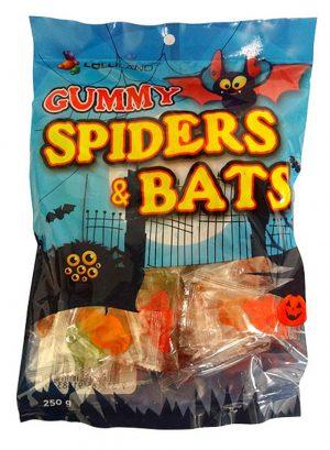 Gummy Spiders Bats 250g